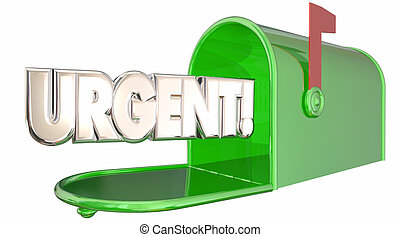 Urgent Message Note Letter Mailbox Communication 3d...