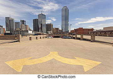 Dallas Downtown District - Skyscrapers in the Dallas...