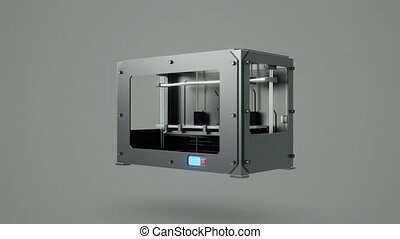 3d printer breaking - 3d printer animation rendering concept