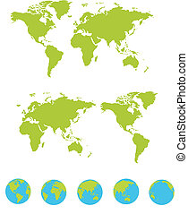 maps set - vector illustration of a maps set