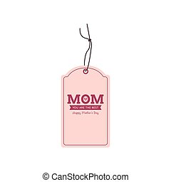 Mother Day label - abstract mother day label on a white...