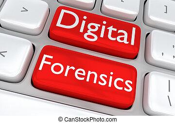 Digital Forensics software concept - 3D illustration of...