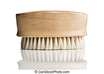 Bath scrub brush on white