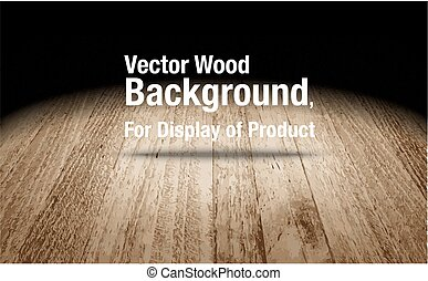 Vector : Plank wooden floor background, Mock up for display of product