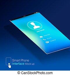 smartphone interface Ui design Mock up,phone6 Ratio...