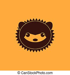 Cute porcupine Face - abstract cute porcupine face on a...