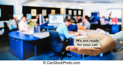 Customer service or support or call center ready for calls