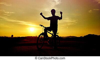 サイクリスト, 自転車, 道