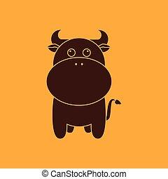 Cute cow silhouette