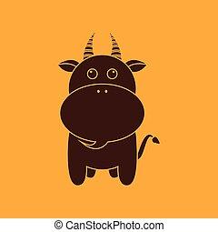 Cute goat silhouette