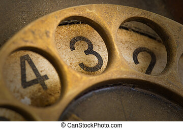 Close up of Vintage phone dial - 3 - Close up of Vintage...