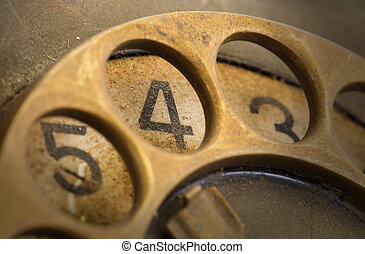 Close up of Vintage phone dial - 4 - Close up of Vintage...