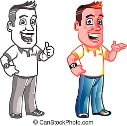 Dandy Man Cartoon Mascot - Vector Design of Dandy Man...