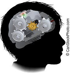 Machine Workings Gears Cogs Brain Child