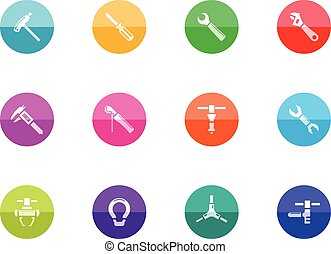 Circle Icons - Bicycle Tools - Bicycle tools icon series in...
