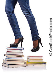 Climbing the steps of knowledge - education concept