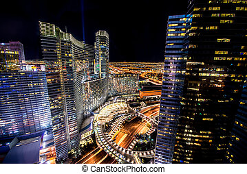 Las Vegas - DECEMBER 12, 2013: Famous Las Vegas Casinos on...