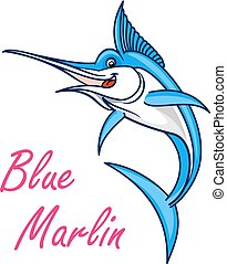 Atlantic blue marlin symbol for mascot design - Atlantic...