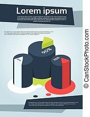 Business Financial Cylinder Chart Diagram Flyer