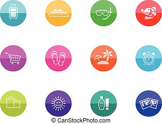 Circle Icons - More Travel - Travel icon set in duo tone...