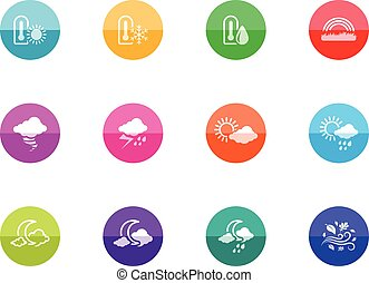 Circle Icons - More Weather - More weather icon series in...