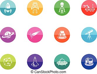 Circle Icons - Space - Space related icons incolor circles