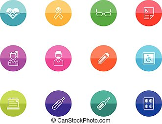 Circle Icons - Medical 3 - Medical icon series in color...