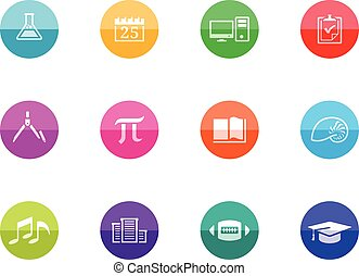 Circle Icons - More School - More school icon series in...
