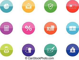 Circle Icons - More Finance - Finance icon series in color...
