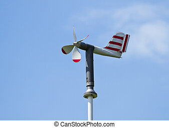 Meteorological station measuring wind speed