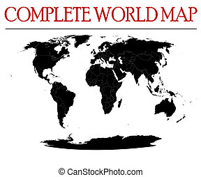 complete world map - Editable map of the world woth all...