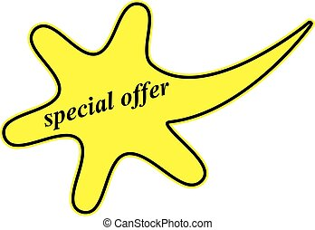 sticker special offer - yellow sticker special offer ,yellow...