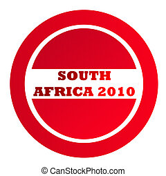 Textured South Africa 2010 stamp