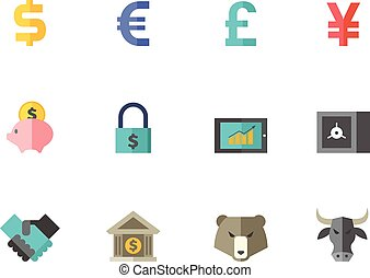 Flat color icons - Finance