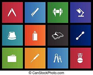 Metro Icons - Camera Repair - Camera repair tool icons in...