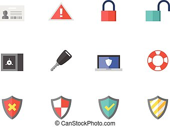 Flat color icons - Internet Security