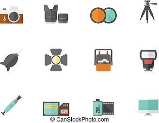 Flat color icons - Photography