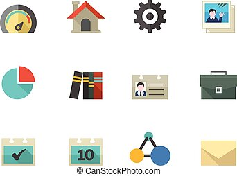Flat color icons - Universal
