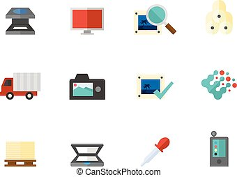 Flat color icons - More Printing and Graphic Design -...