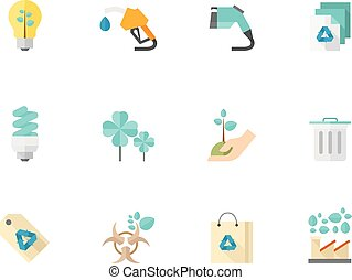 Flat color icons - More Environment