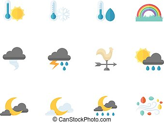 Flat color icons - More Weather