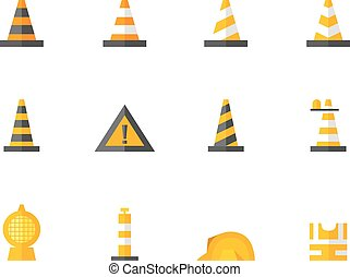 Flat color icons - Traffic Warning Sign