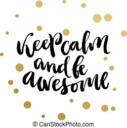 Funny calligraphic print - Calligraphy print - Keep calm and...