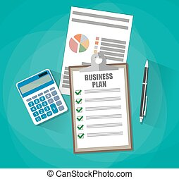 Business plan concept - Business plan document papers....
