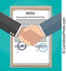MOU memorandum of understanding handshake