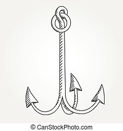 Anchor line icon symbol art -variable line-