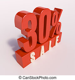 Percentage sign, 30 percent