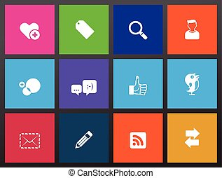 Social Network Icons - Social network icon series in metro...