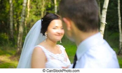 Married couple dance outdoor