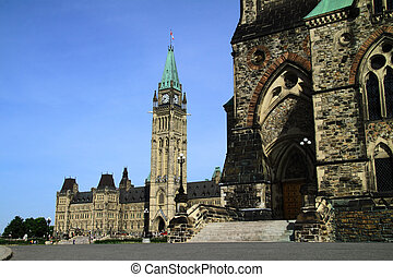 Canada Parliament Historic Building at Ottawa